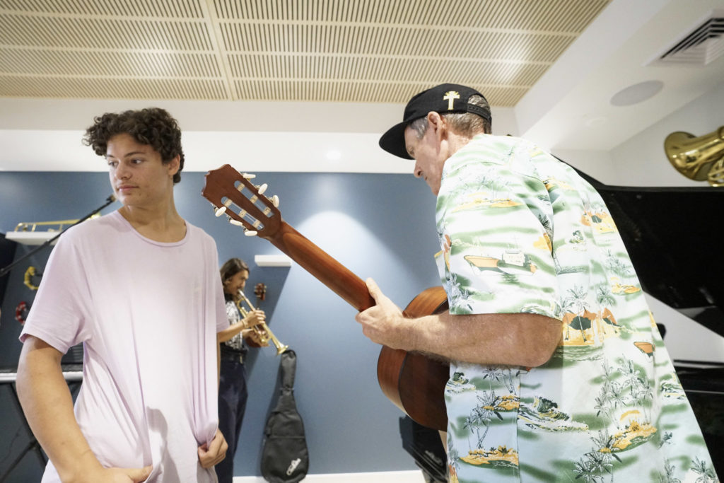 Jamming with the boys
