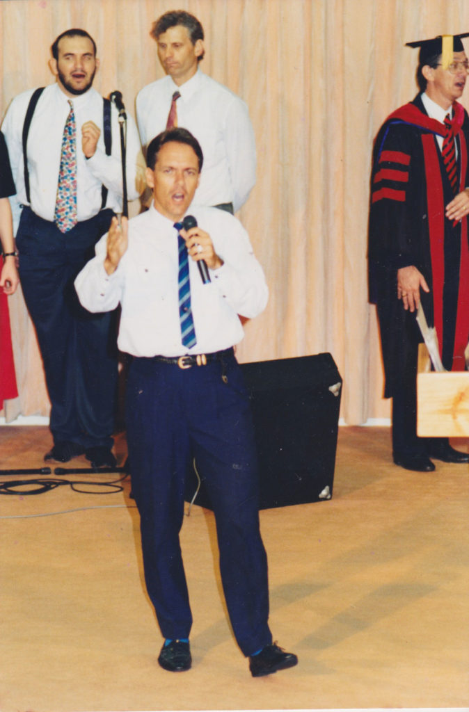 Leading Worship at the Graduation Ceremony